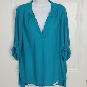 Women's XL Society Girl V-Neck Blue blouse